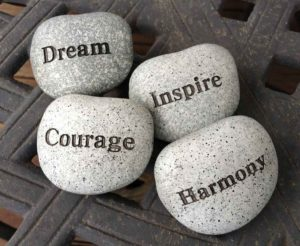 stones with inspirational words