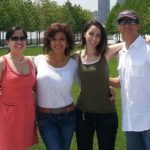 family at Roosevelt Island